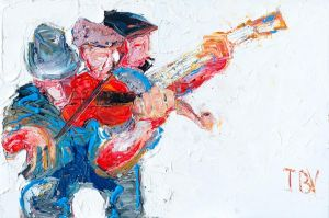 Trio with Banjo Player 20x30-lg