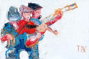 Trio with Banjo Player 20x30-lg
